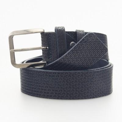 Cintura in pelle stampata