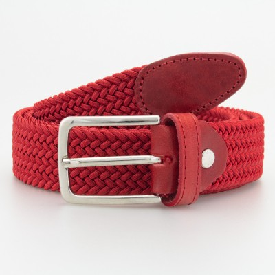 Cintura in elastico intrecciato rosso
