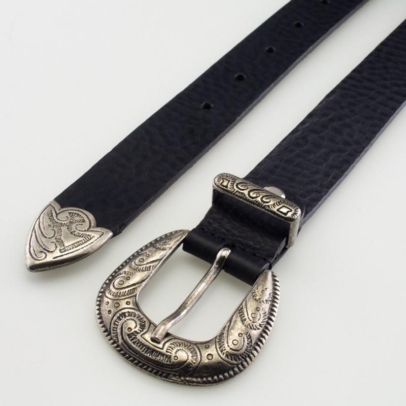 Cintura in pelle trittico