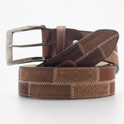 Cintura patchwork in pelle