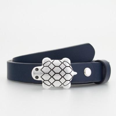 Cintura in pelle da bambino tartaruga blu