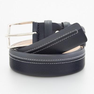 Cintura in pelle bicolor