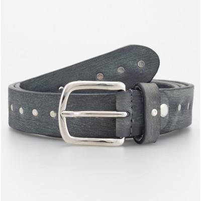 Cintura in pelle borchiata