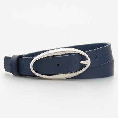 Cintura in pelle fibbia ovale