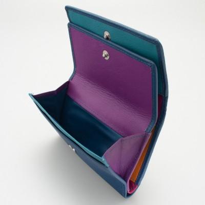 Portafoglio da donna mid-size in pelle colore BLU