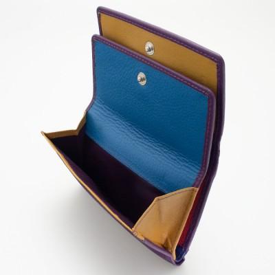 Portafoglio da donna mid-size in pelle colore FUXIA