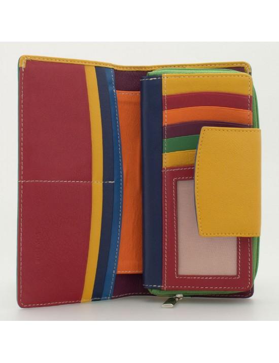 Portafoglio donna tri-fold in pelle multicolor GIADA