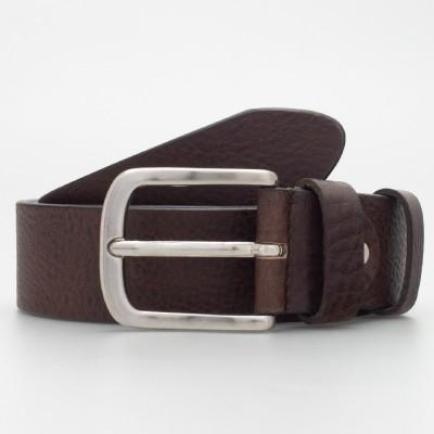 Cintura in cuoio 4cm colore MORO