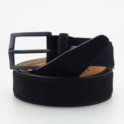 Cintura in pelle scamosciata nera