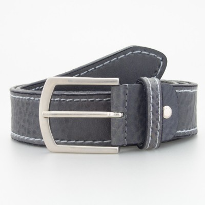 Cintura sportiva in cuoio grigio